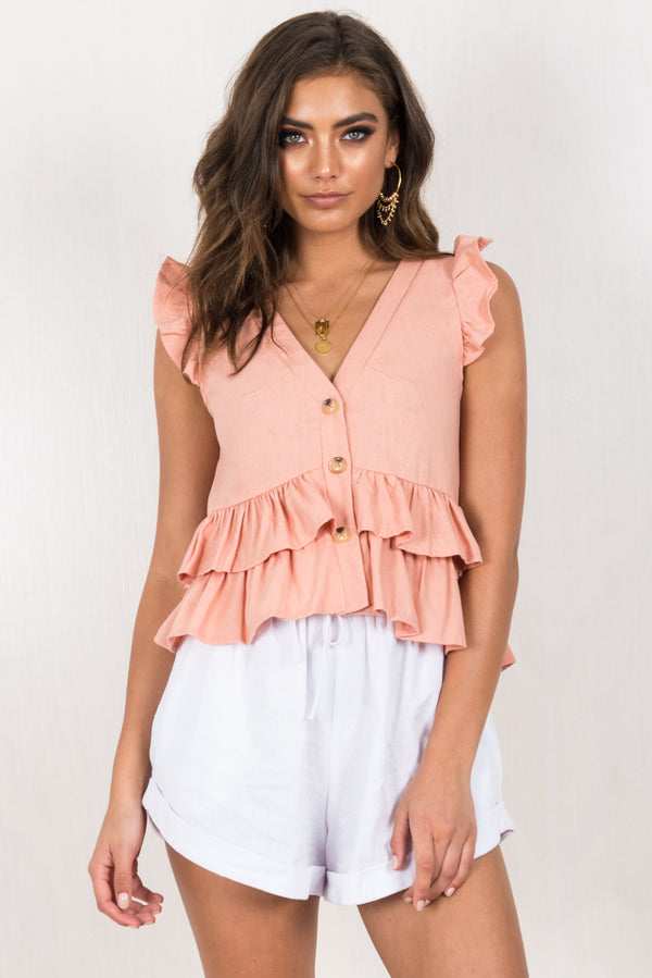 Newport Top / Blush
