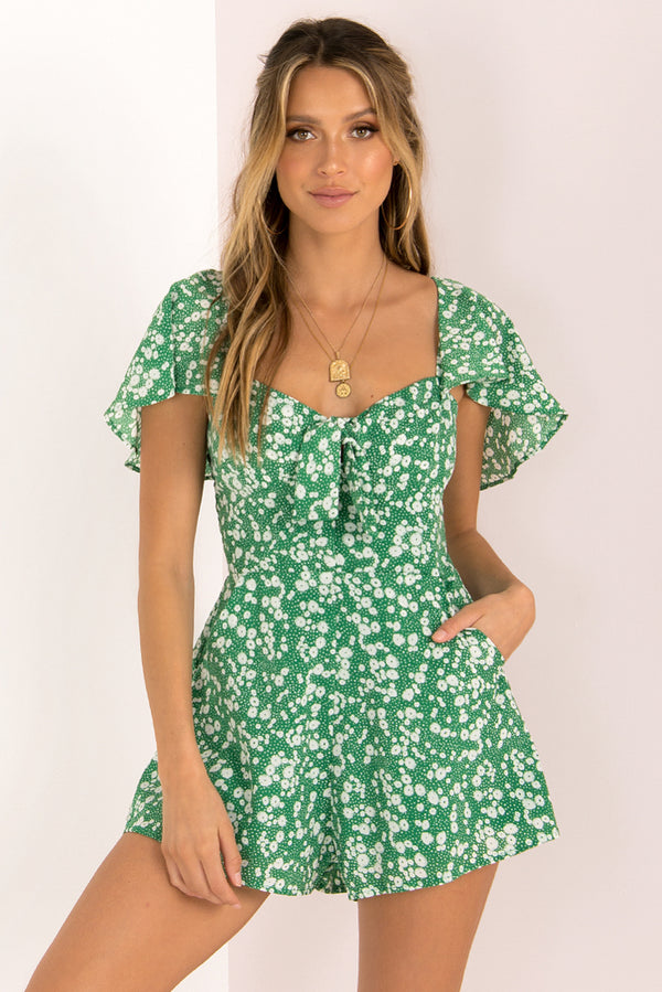 Daniella Playsuit / Green