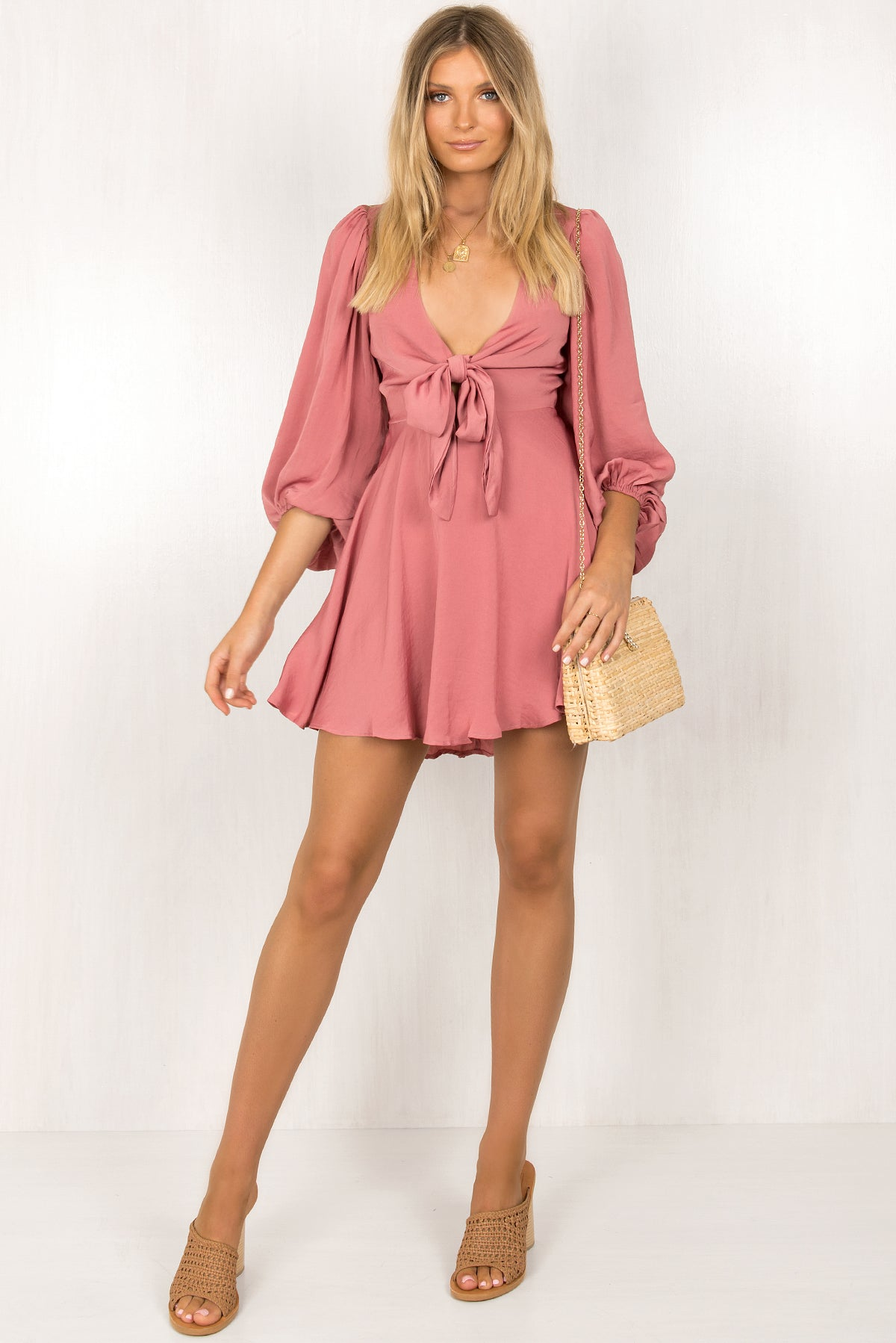 Nicolette Dress / Rose