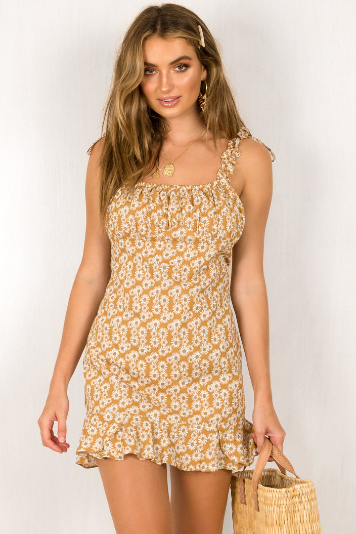 Idaho Dress / Mustard