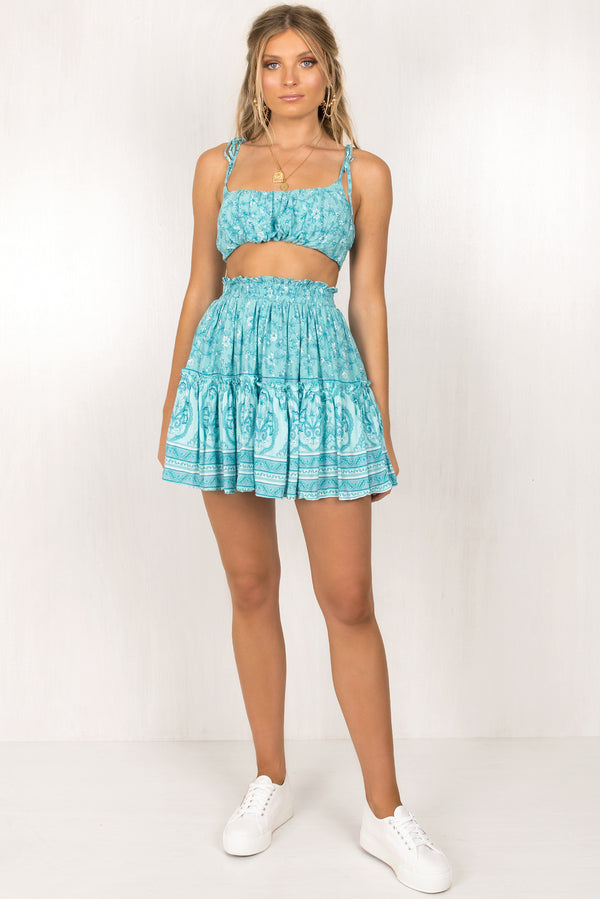 Gemini Skirt / Teal