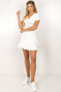 Loretta Dress / White