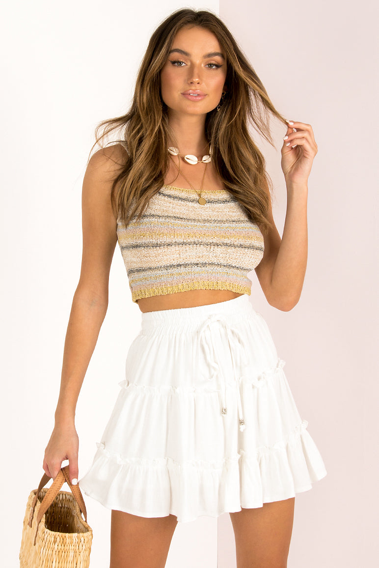 Capri Skirt / White