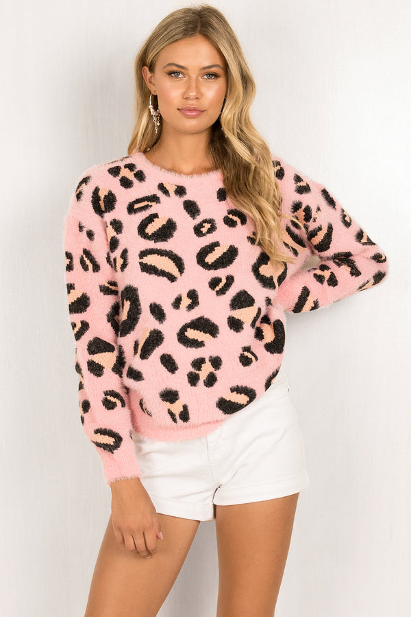 Hailey Knit / Leopard