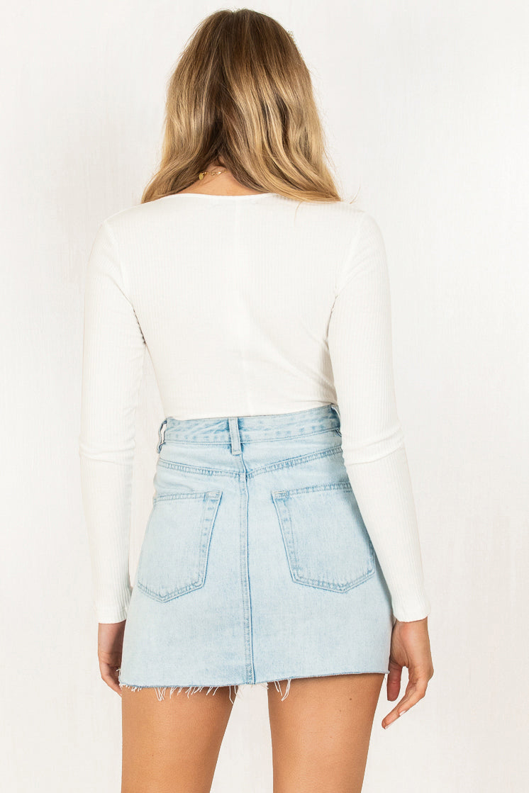 Brandy Bodysuit / white