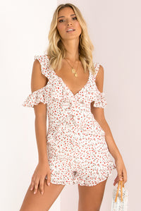 Zoe Playsuit / White