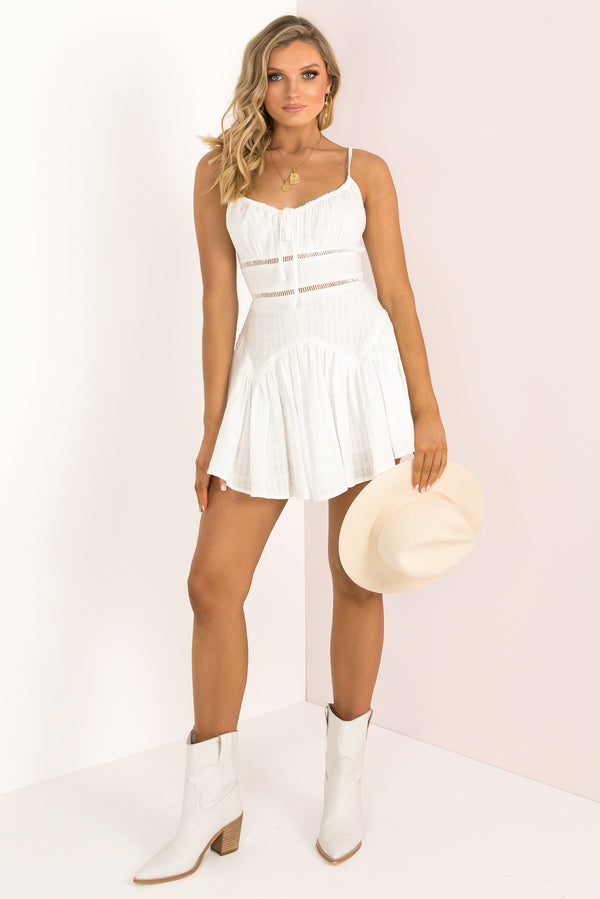 Carina Dress / White