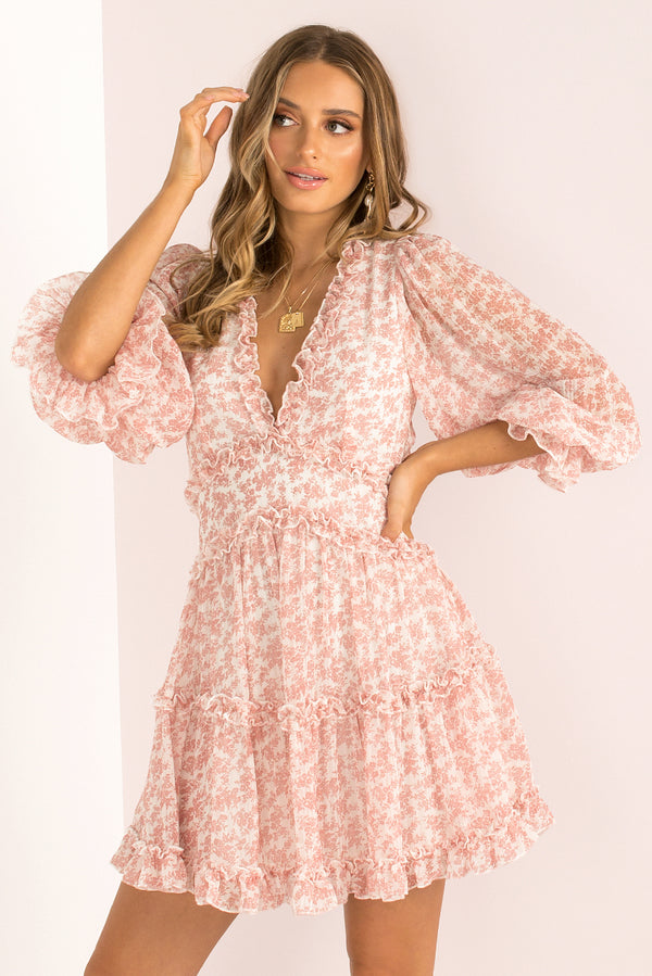 Aurora Dress / Blush Floral