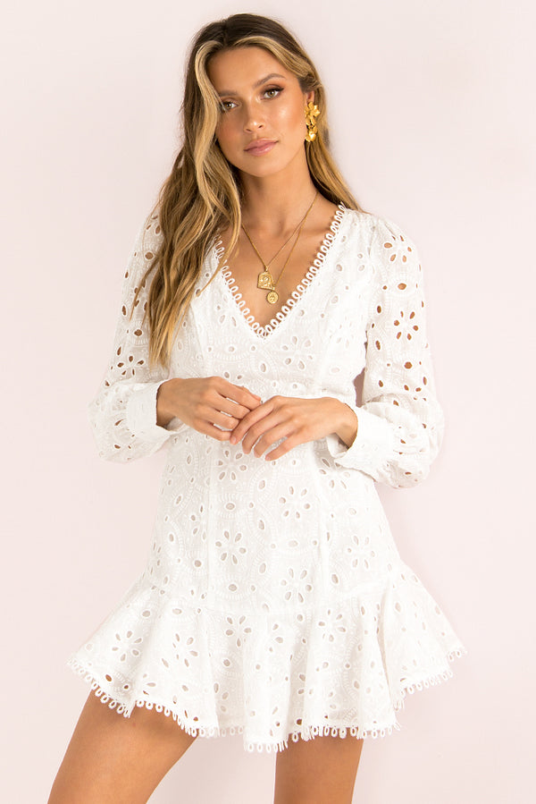 Savannah Dress / White