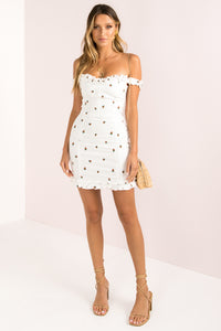 Senorita Dress / White Berry