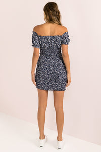 Rhiannon Dress / Navy Floral