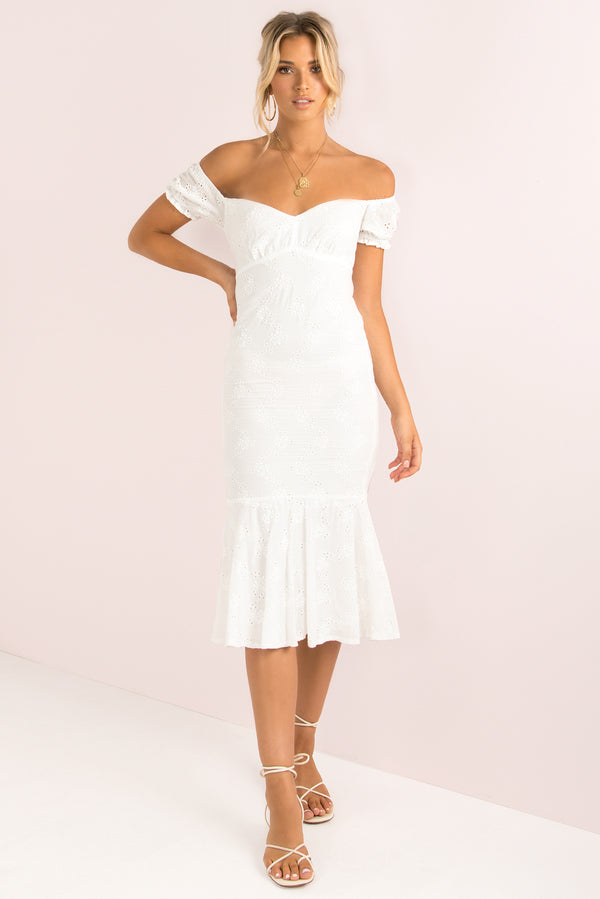 Miranda Dress / White
