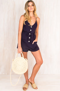 Valley Playsuit / Navy
