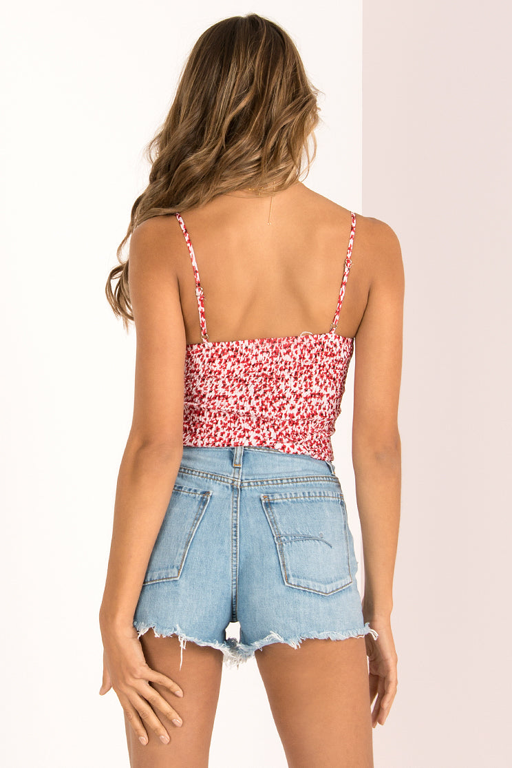 Wendy Top / Red Floral