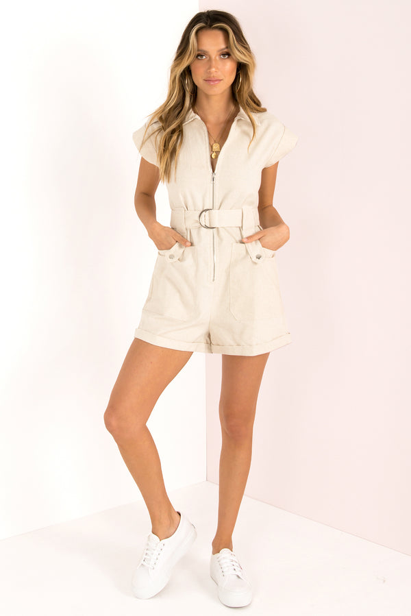 Bentley Playsuit / Beige