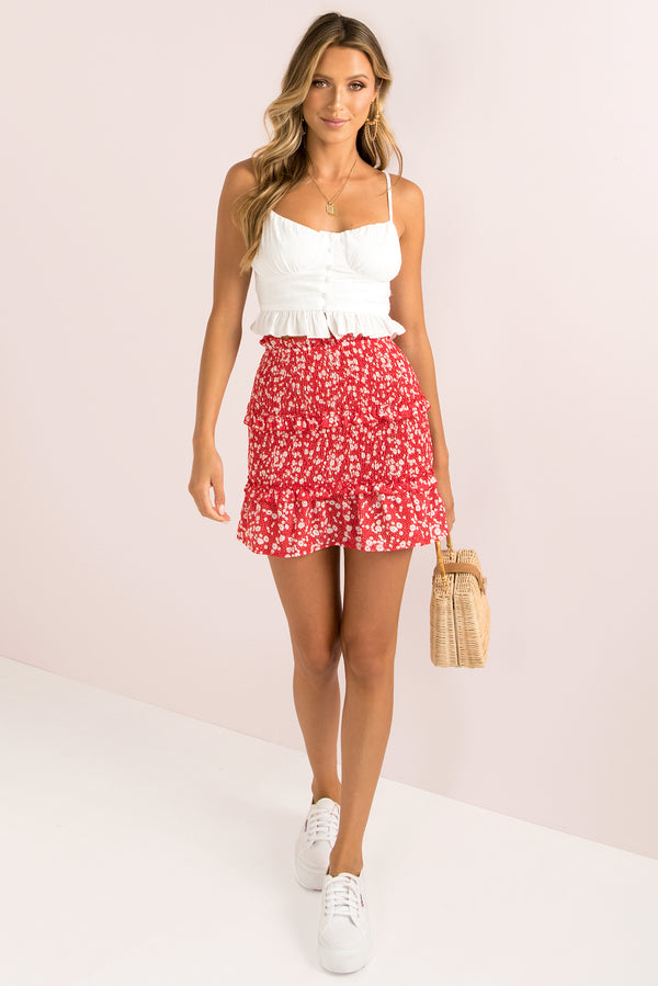 Mia Skirt / Red