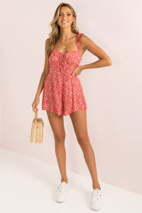 Hannah Playsuit / Red