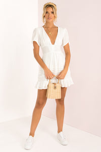 Catalina Dress / White
