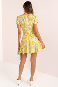Gabriella Dress / Yellow Floral