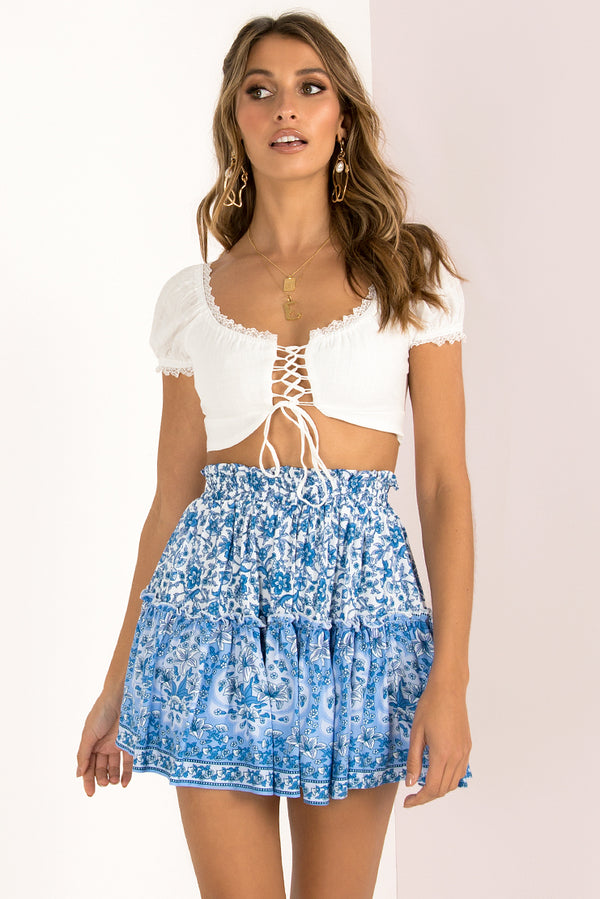 Athena Skirt / Blue Print