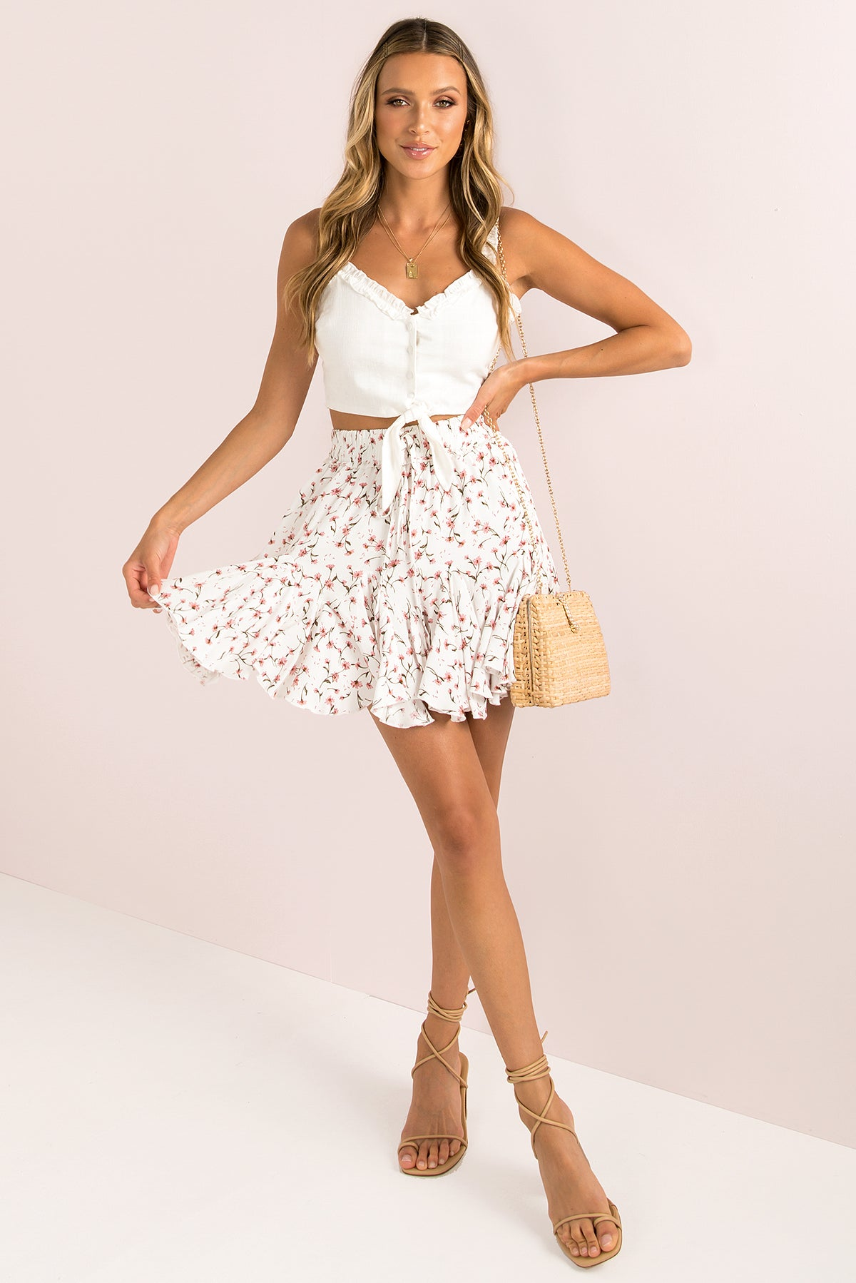 Georgina Skirt / White