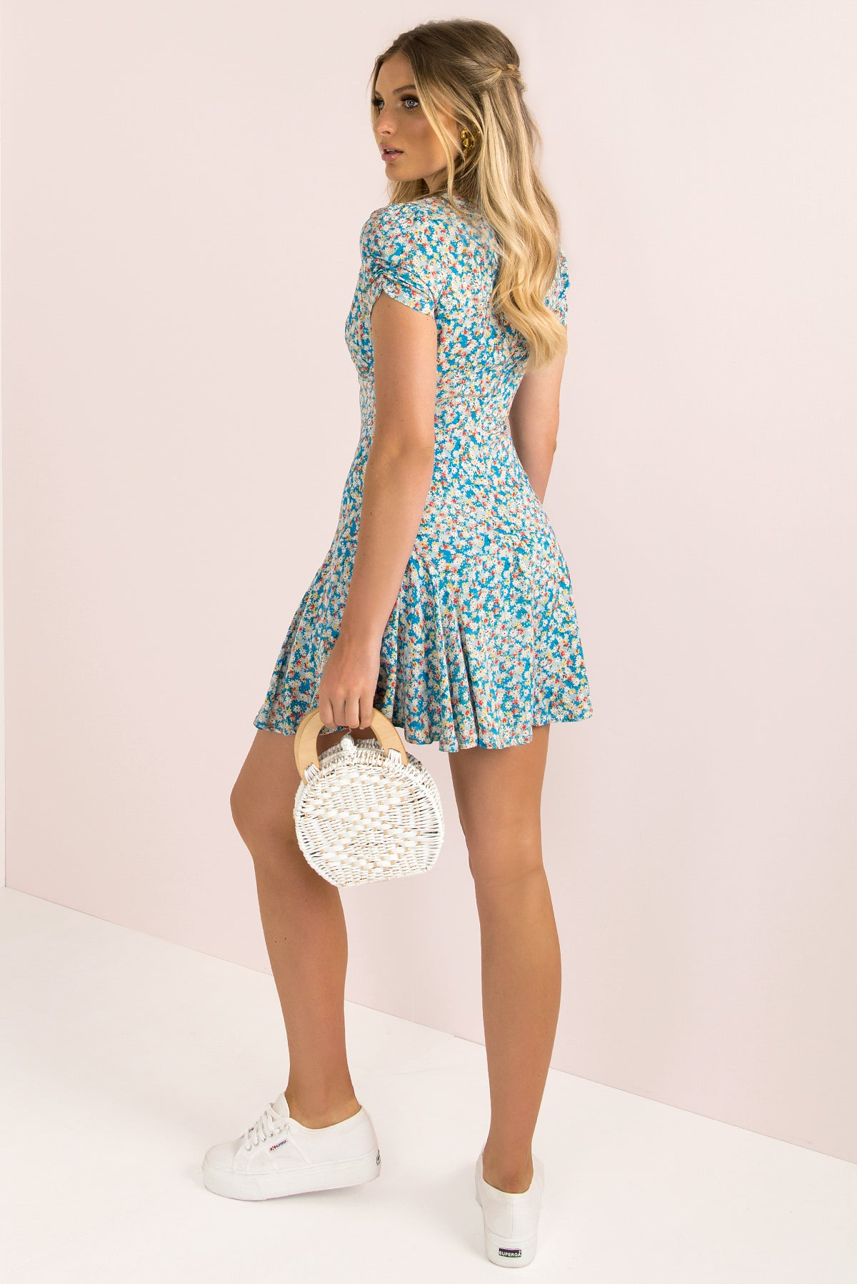 Gabriella Dress / Blue Floral