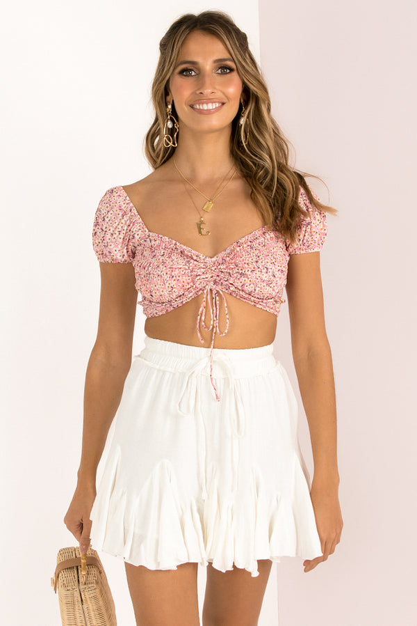 Vicky Top / Pink Floral