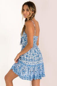 Athena Dress / Blue Print