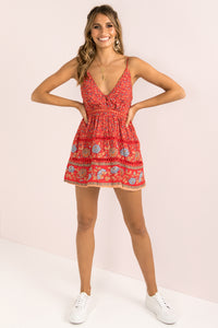 Jamie Dress / Red Print