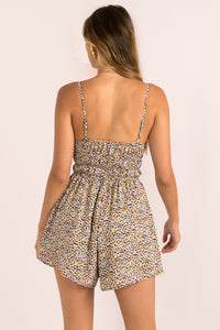 Olly Playsuit / Dark Floral