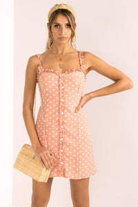 Claudette Dress / Peach