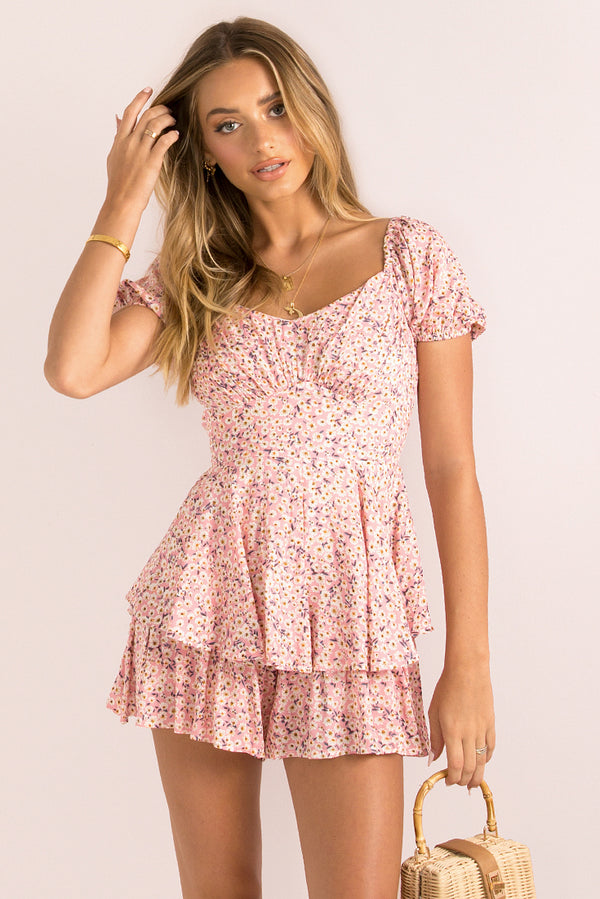 Brooke Playsuit / Pink