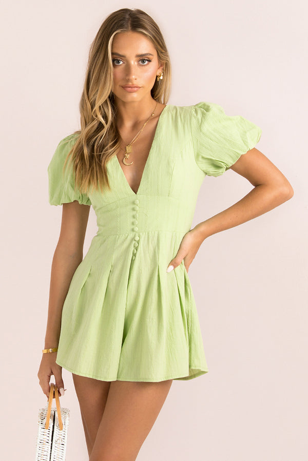 Sammy Playsuit / Lime