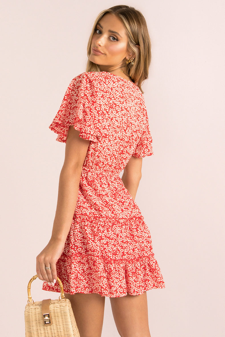 Tammy Dress / Red Floral