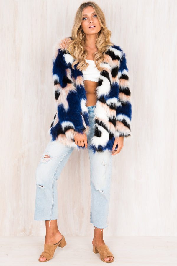 Stevie Faux Fur Coat