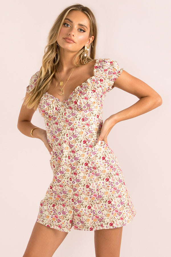 Yasmin Dress / Pink Floral