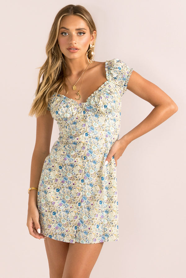 Yasmin Dress / Blue Floral