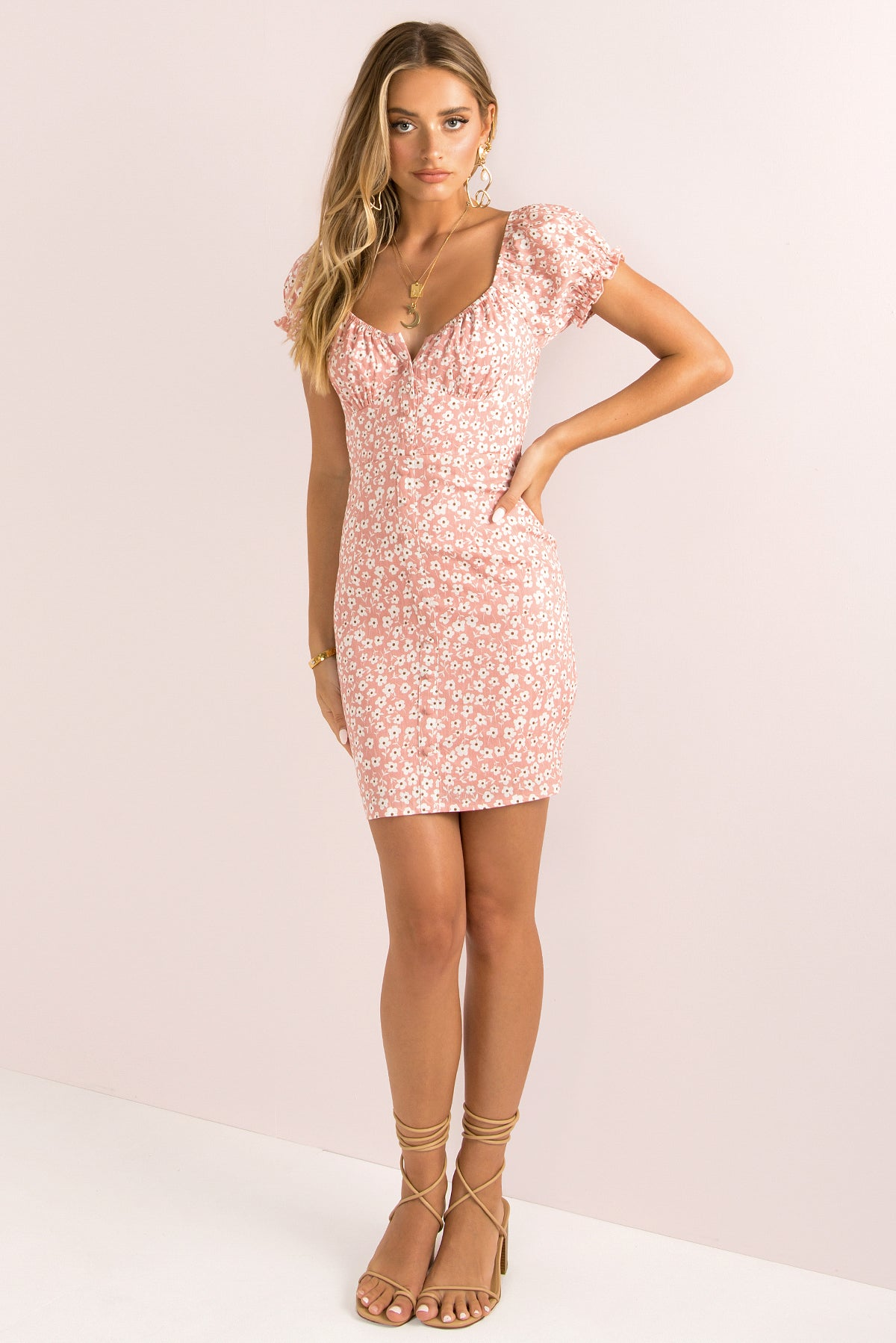 Devon Dress / Blush
