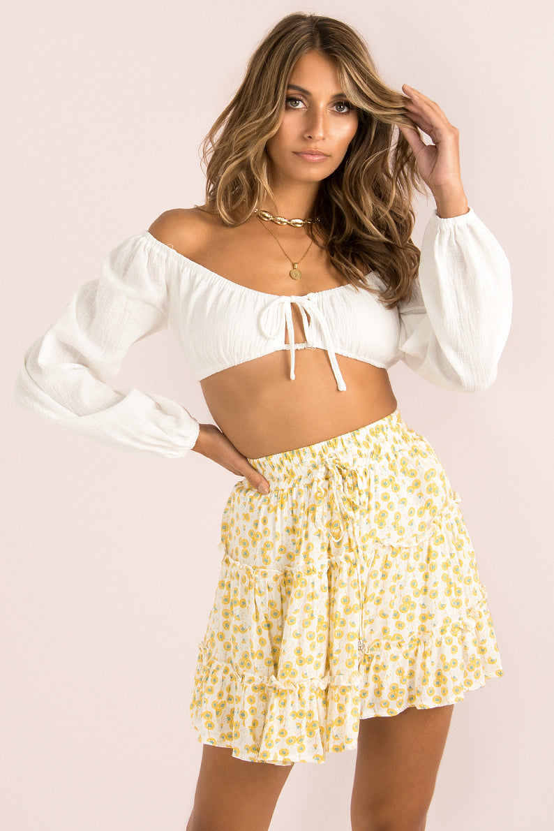 Meredith Skirt / Yellow Floral