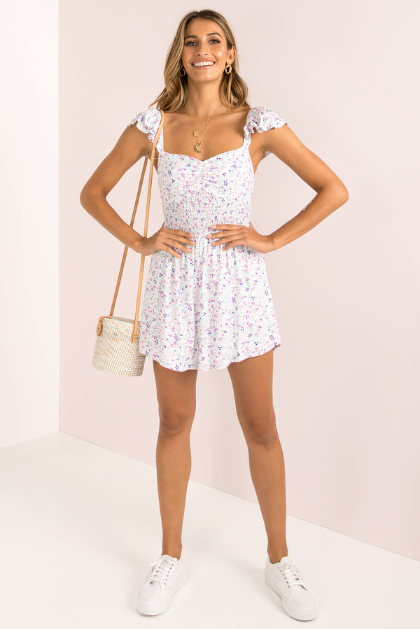 Rowie Playsuit / White