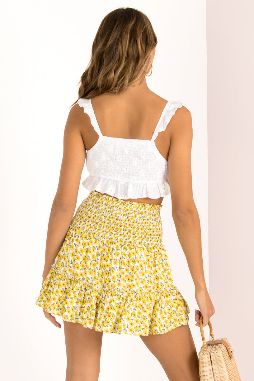 Heather Skirt / Yellow