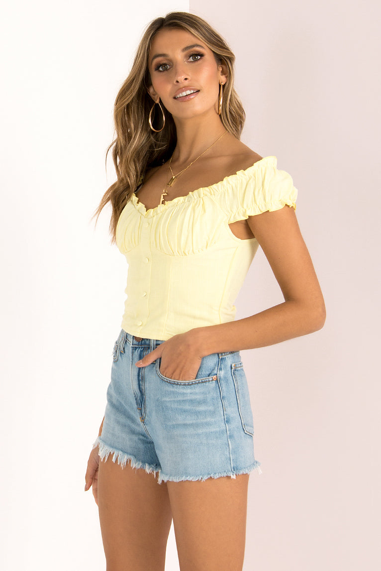 Callie Top / Yellow