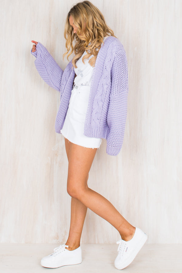 Riley Cardigan / Lilac