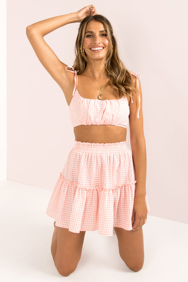 Blair Skirt / Pink Gingham