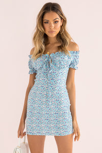 Bambi Dress / Blue Floral