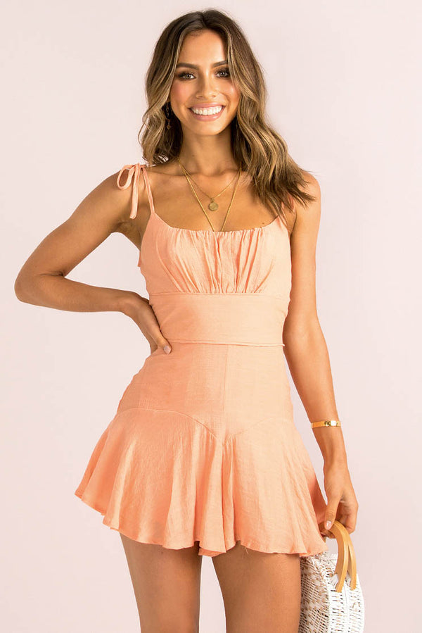 Annie Playsuit / Peach