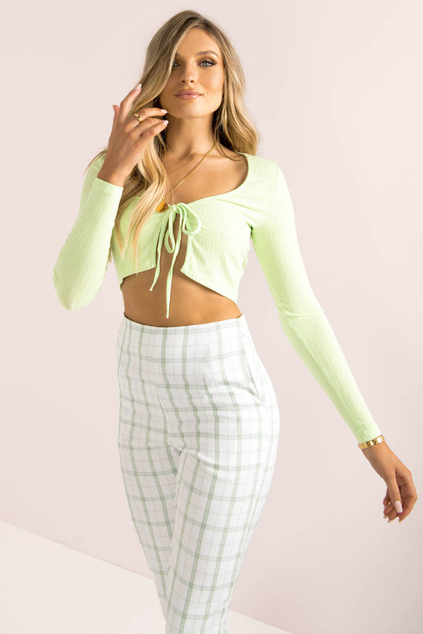 Evelina Top / Lime