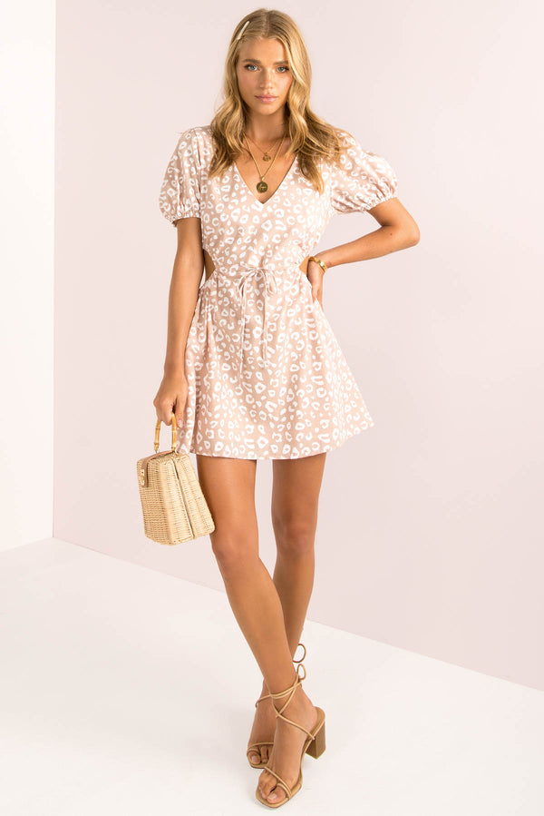 Peggy Dress / Blush Leopard