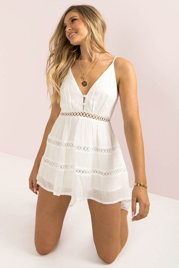 Jamie Dress / White