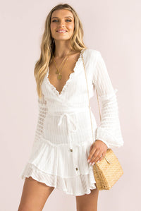 Cassia Dress / White